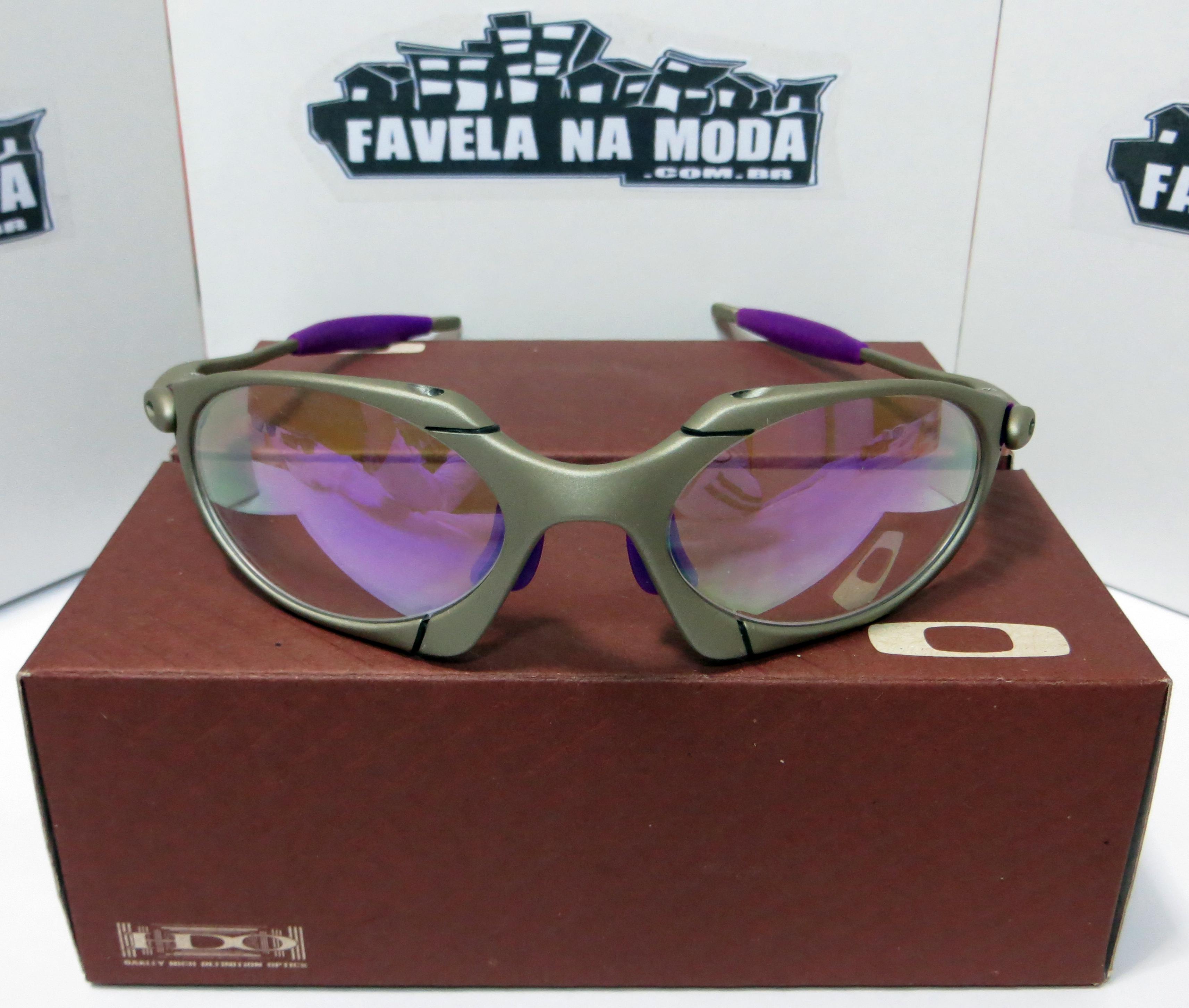 Óculos Oakley Romeo 1 - Plasma   Clear Roxa   Borrachinhas Roxas ac8af13454