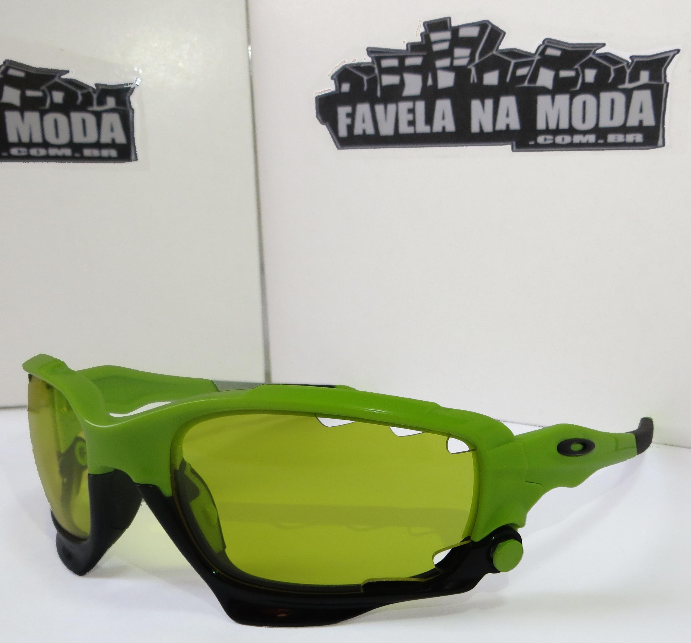 0ced8052c669d Óculos Oakley Jawbone - Verde   Preto - Favela na Moda Imports
