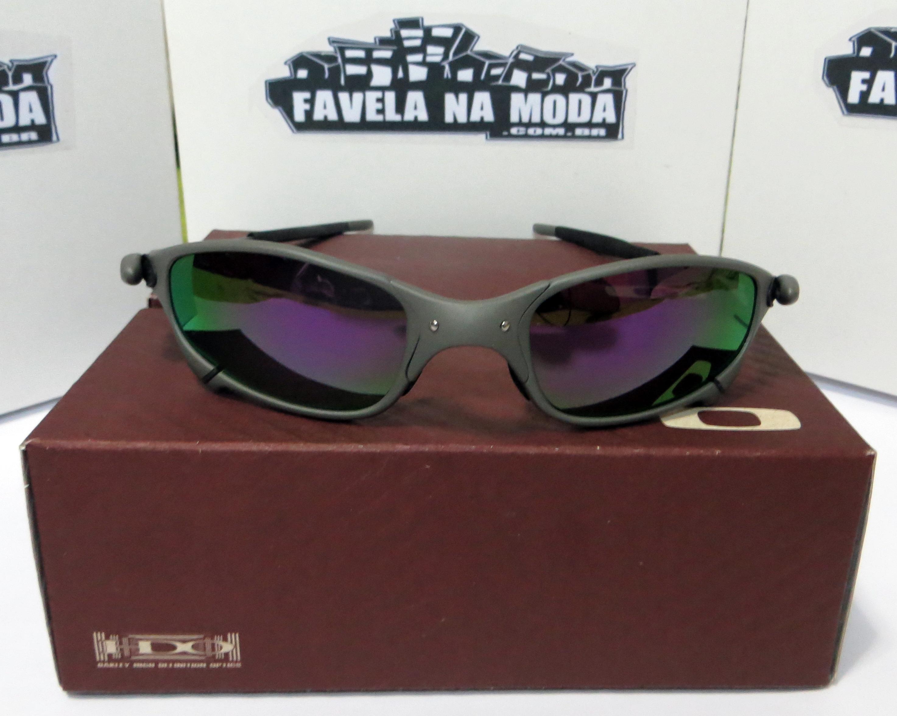 724138c216c4f Óculos Oakley Juliet - X-Metal   Violet   Borrachinhas Pretas