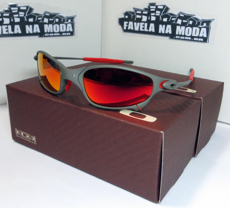 88ffbc9f6 Óculos Oakley Juliet - X-Metal / Dark Ruby / Borrachinhas Vermelhas ...