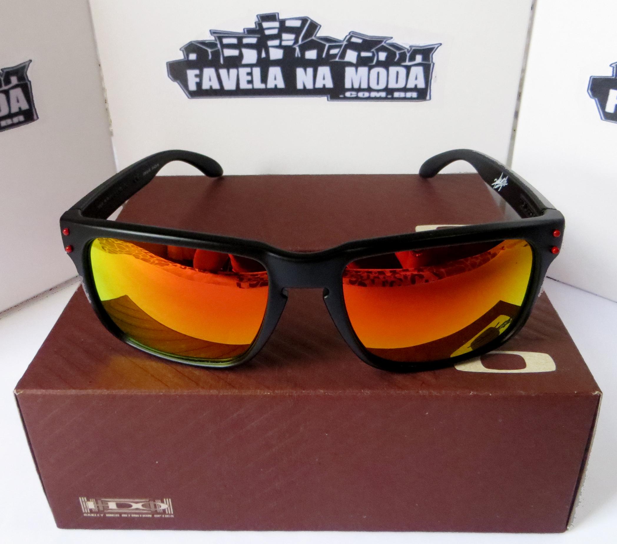 4448b30fef21b Óculos Oakley Holbrook (Ducati) Armação Preto Fosco   Lente Vermelha    Ícone Vermelho