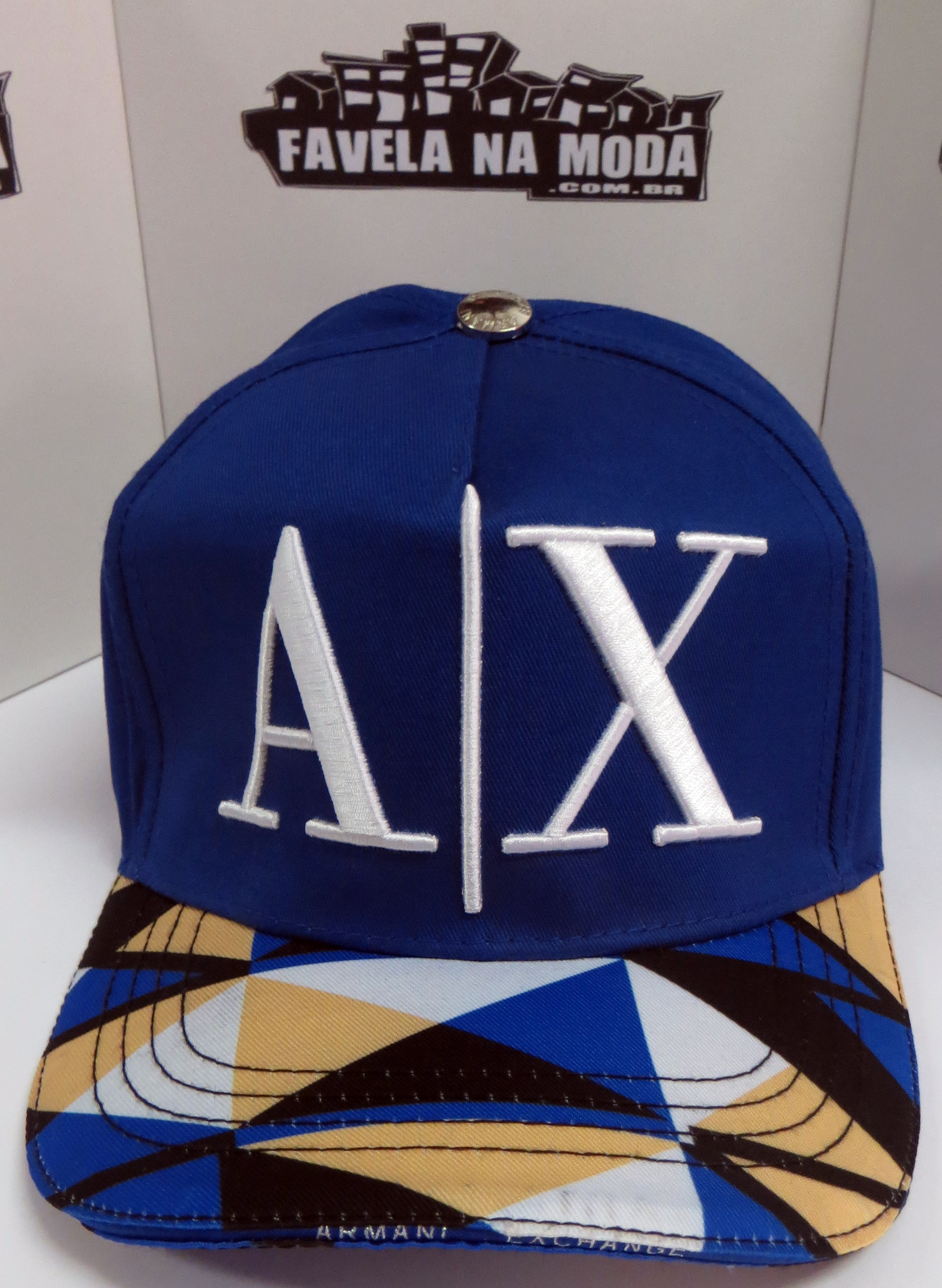 Boné Armani Exchange AX - Azul Royal 898f7635739