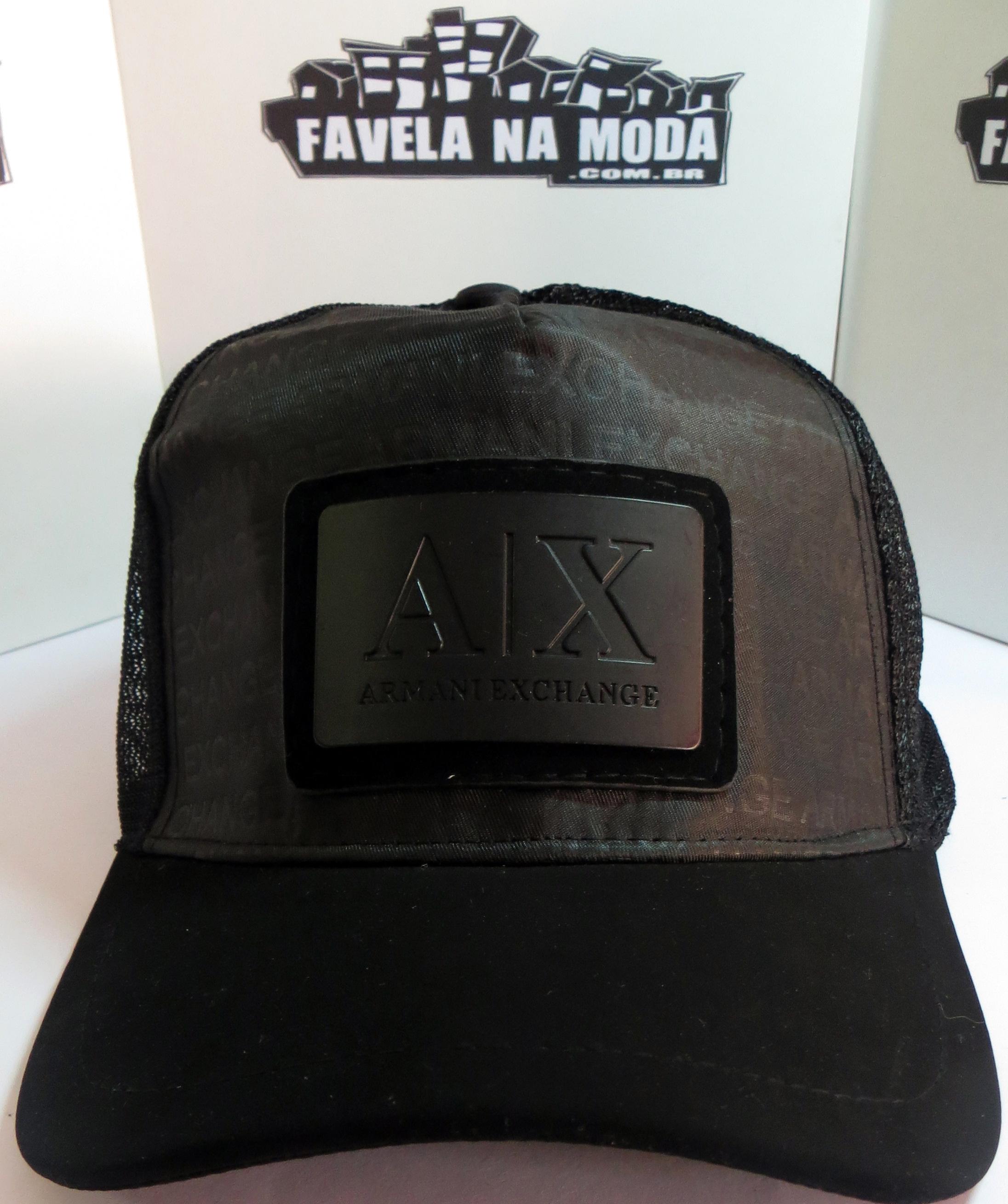 db3183ebe0c55 Boné Armani Exchange AX - Preto