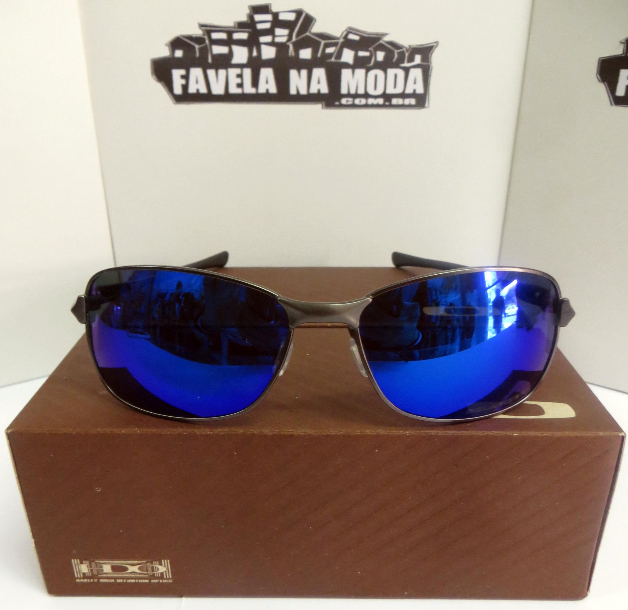 28be3b788b1b6 Óculos Oakley C-Wire - Titanium Chrome   Blue Iridium
